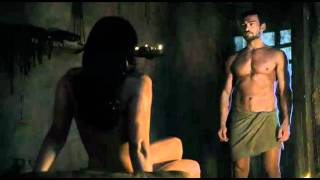 Repeat youtube video Spartacus Ep9 #1 - Scena sesso Lucrezia con Batiato e Mira con Spartacus