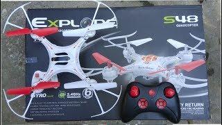 explore S48 quadcopter unboxing