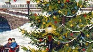 Cross Stitch Kit Design Christmas Village Is At Www.abullrun.com
