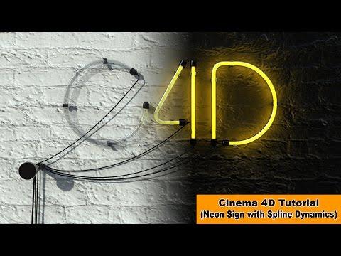Create a Neon Sign (Cinema 4D Tutorial)