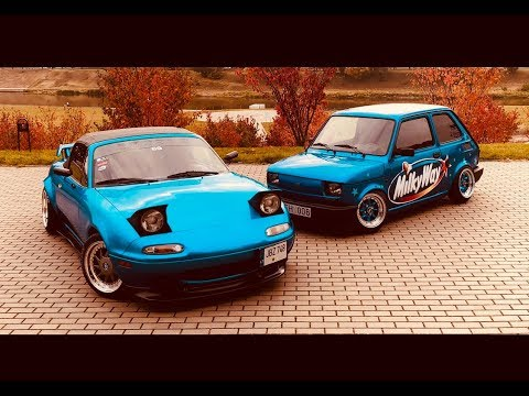 Stanced Little Ones || Miata And Fiat 126 Showtime