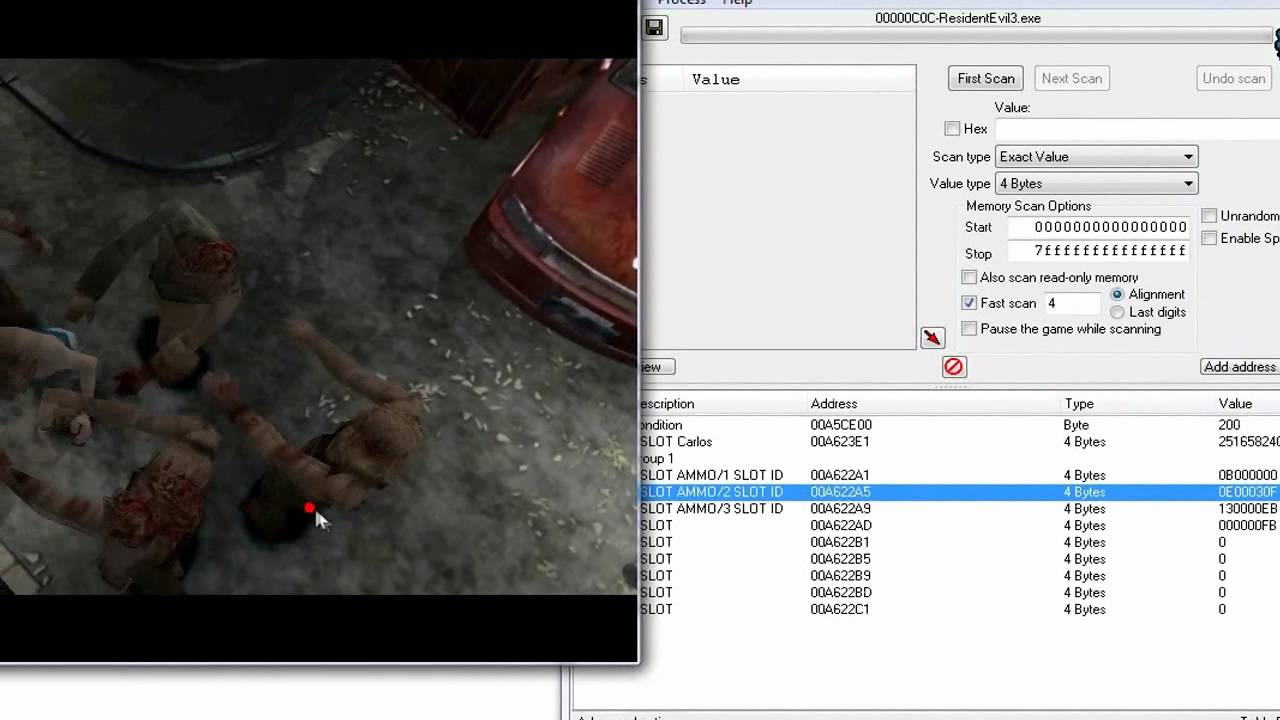 resident evil 3 psx cheat engine codes