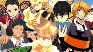 Repeat youtube video Katekyo hitman reborn ! all openings ( 1,2,3,4,5,6,7,8 )