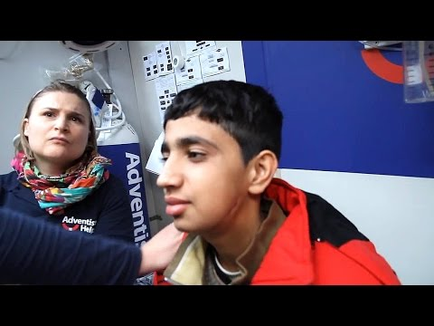 14 year old Shot in Face -  Refugee - Lesbos Greece