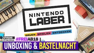 0245 🔴 Nintendo LABO: Unboxing & KLAVIER Basteln 🔴 Gronkh Livestream | 27.04.2018