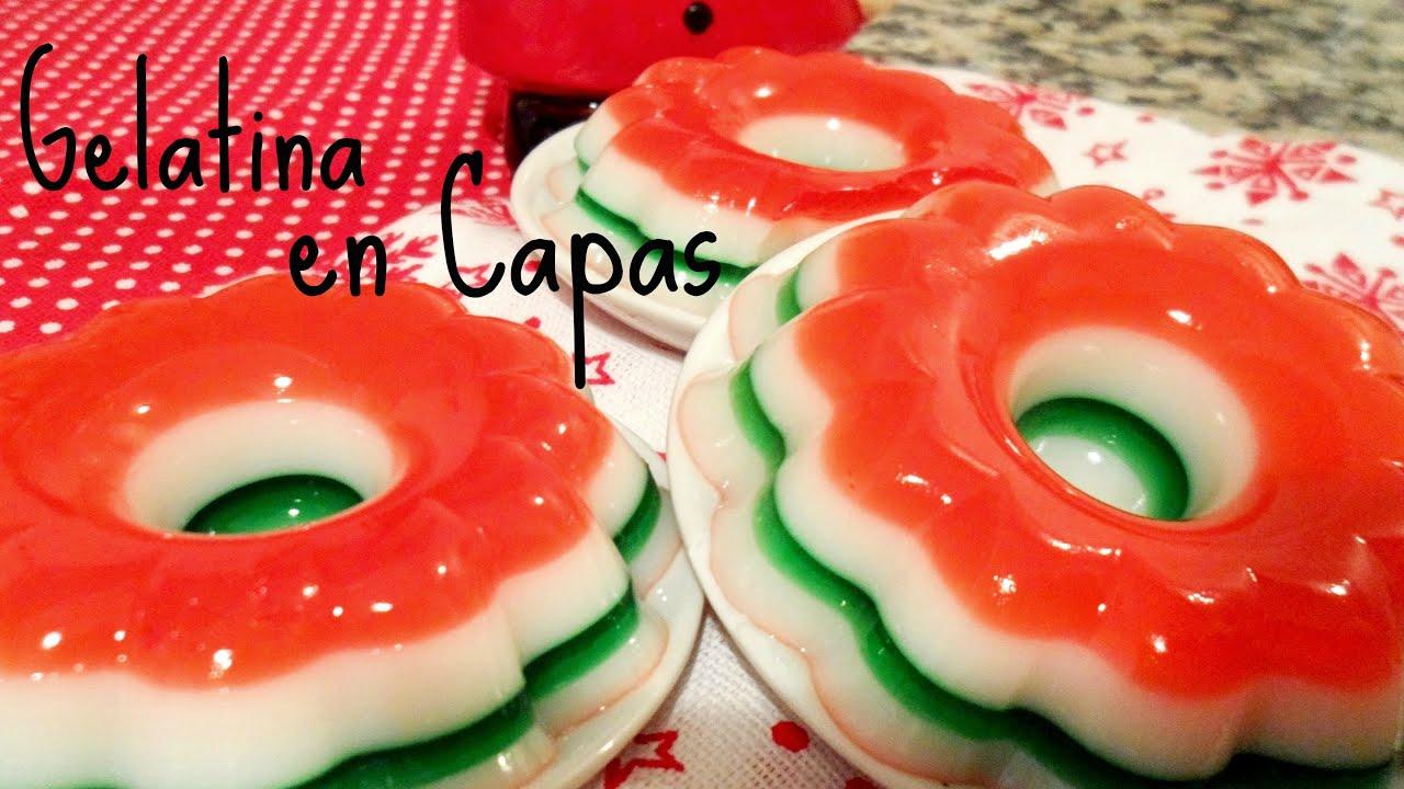 Como hacer gelatina en capas para navidad youtube - Crear christmas de navidad ...