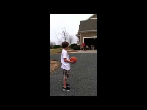 Shane makes punt into bball hoop