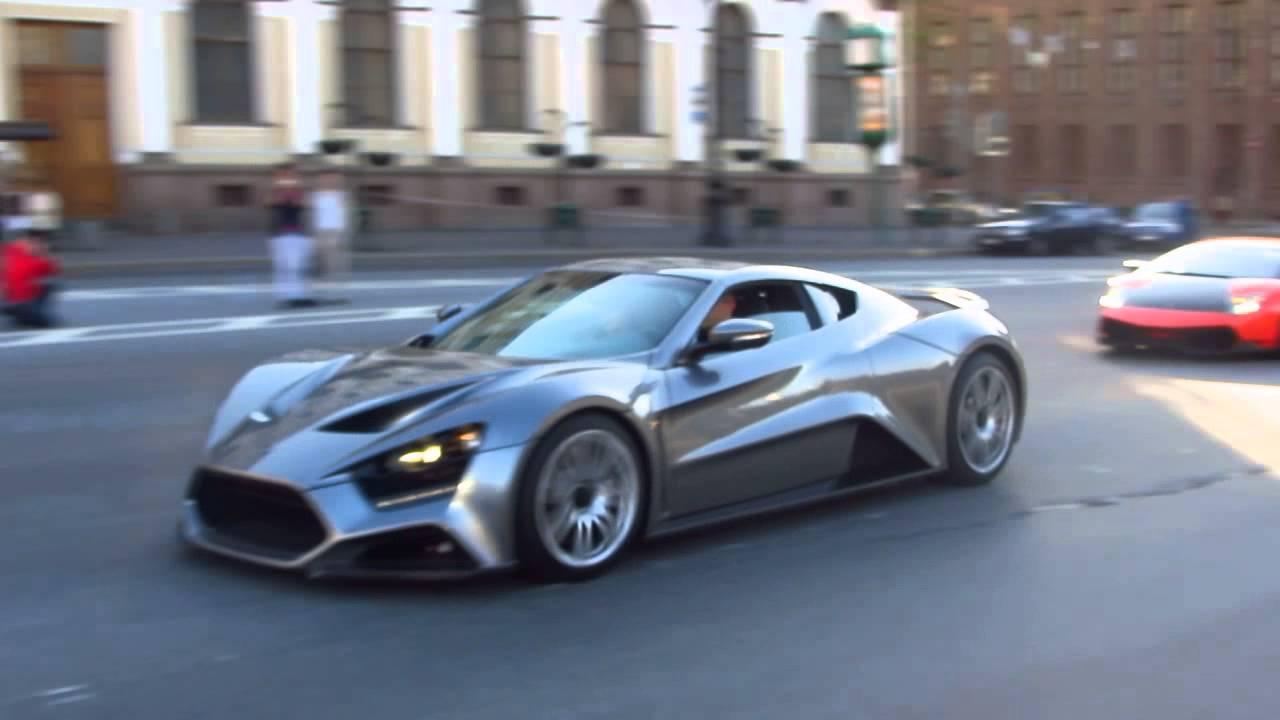 Zenvo St1 One Of 15 And Lamborghini Murcielago In St Petesburg Russsia Youtube