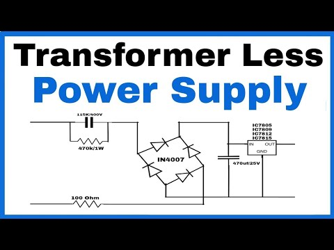 Transformer Less Power Supply In Hindi 5v 9v 12v And 15v Dc