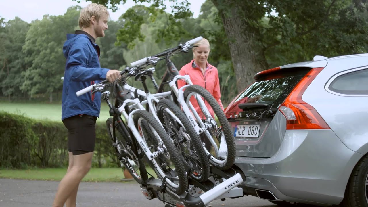 Volvo Accessories - How to - 3 Bikes on Rear Carrier