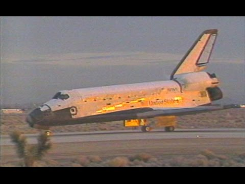 Spectacular Early Space Shuttle Columbia Landing