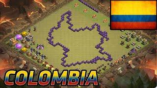 Aldea en forma de Colombia | Clash Of Clans | Diseños de Aldeas