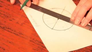 как разделить круг на 4 равные части