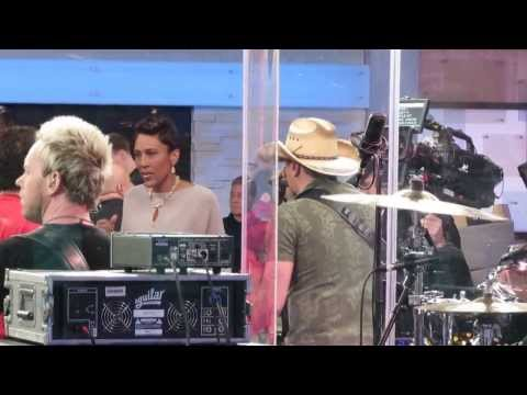 Spotting Jason Aldean and Rachael Ray on stage at Good Morning America (GMA) in NYC