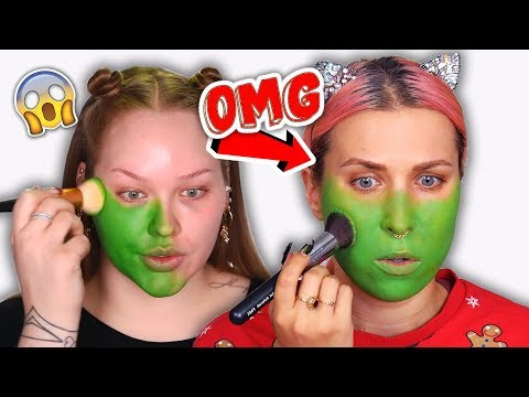 ♦ Odtwarzam makijaż GRINCHa od NikkieTutorials 😱🎄 #CHALLENGE ♦ Agnieszka Grzelak Beauty
