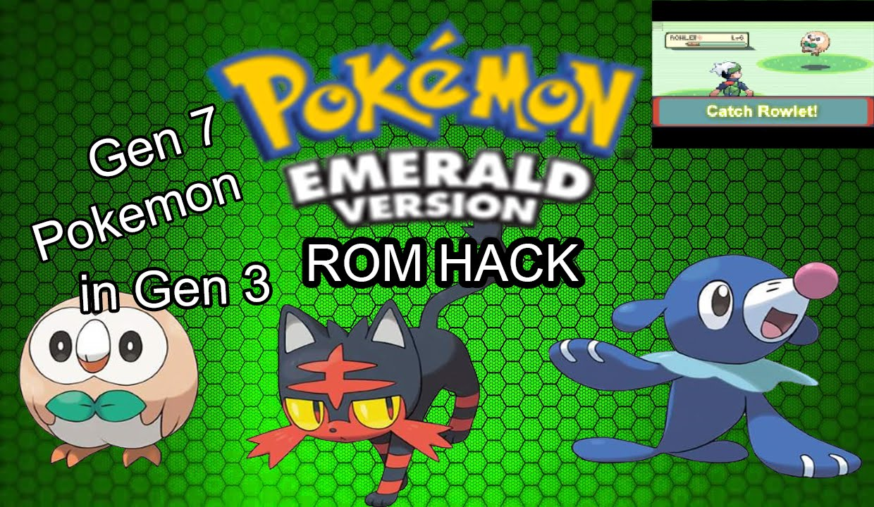 Pokemon Emerald Rom Hack With Gen 7 Pokemon Discontinued Youtube