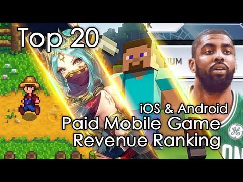 TOP 20 Grossing PAID Mobile Game Revenue Review (U.S. Region) Of June,2019