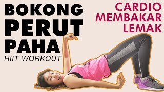 Latihan Perut, Bokong dan Paha Dalam 5 Menit ! Latihan Bakar Lemak HIIT Workout