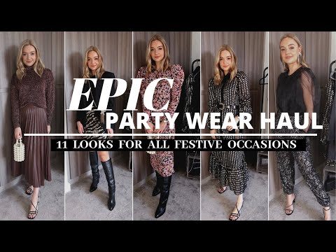 HIGH STREET PARTY WEAR HAUL & TRY-ON | ZARA, MANGO, & OTHER STORIES, TOPSHOP | Lydia Tomlinson