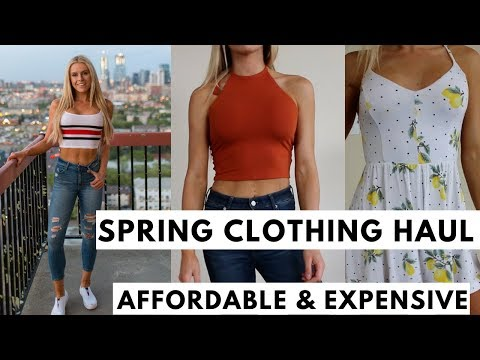 Spring Clothing Haul CHEAP vs. Expensive Pieces