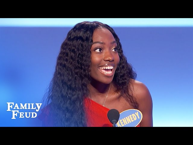 Fact! Guys are intimidated if a woman has a better what? | Family Feud