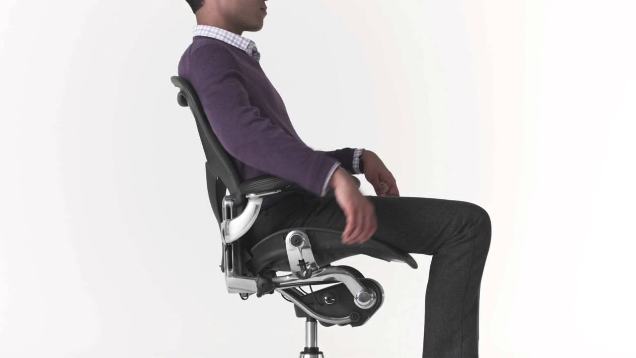 Herman Miller Aeron Ergonomic Office Chair Youtube