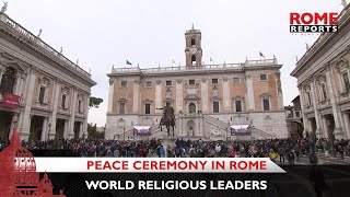 Pope Francis will join world religious leaders in a peace ceremony in Rome