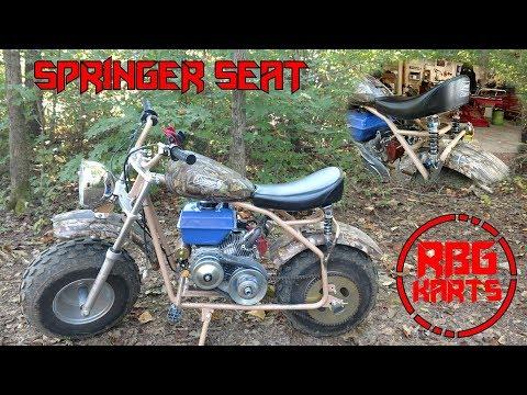 Coleman Mini Bike Springer Seat Build ~ Mini Bike Monday