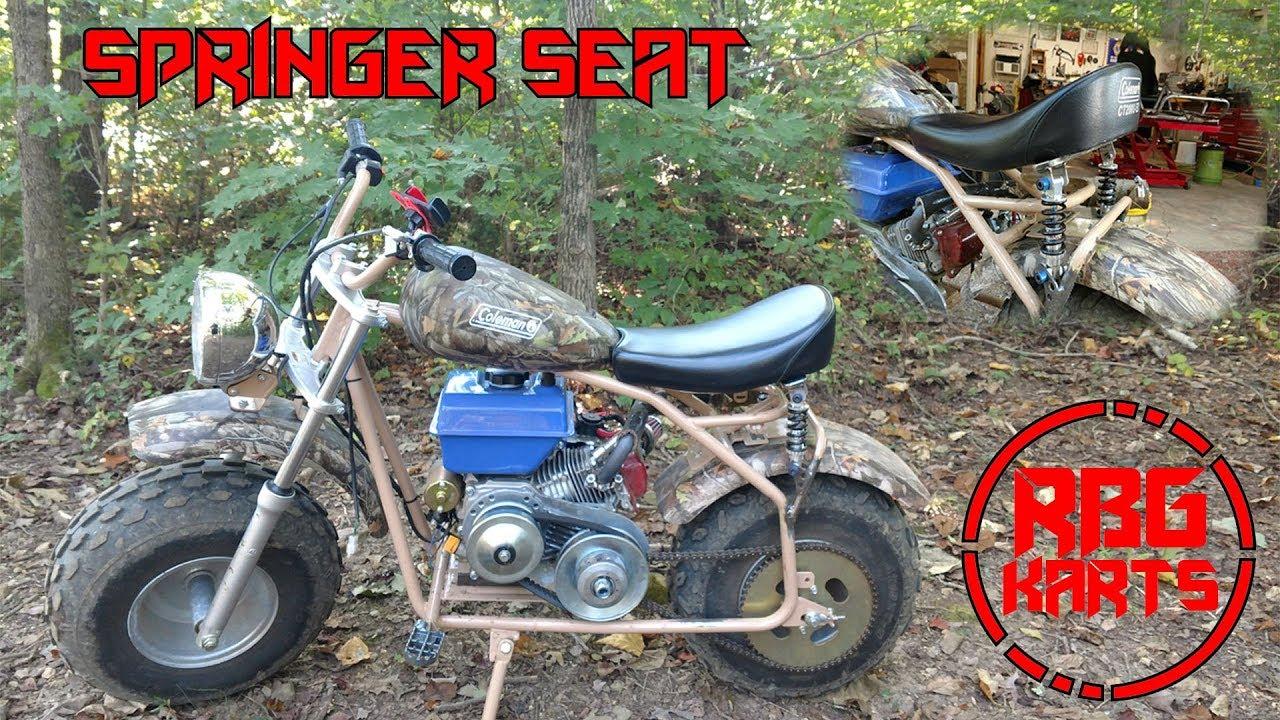 Spring Bike Seat Mini : Coleman mini bike springer seat build monday