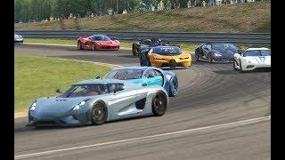Battle Bugatti Vision GT vs Supercars at Spa-Francorchamps