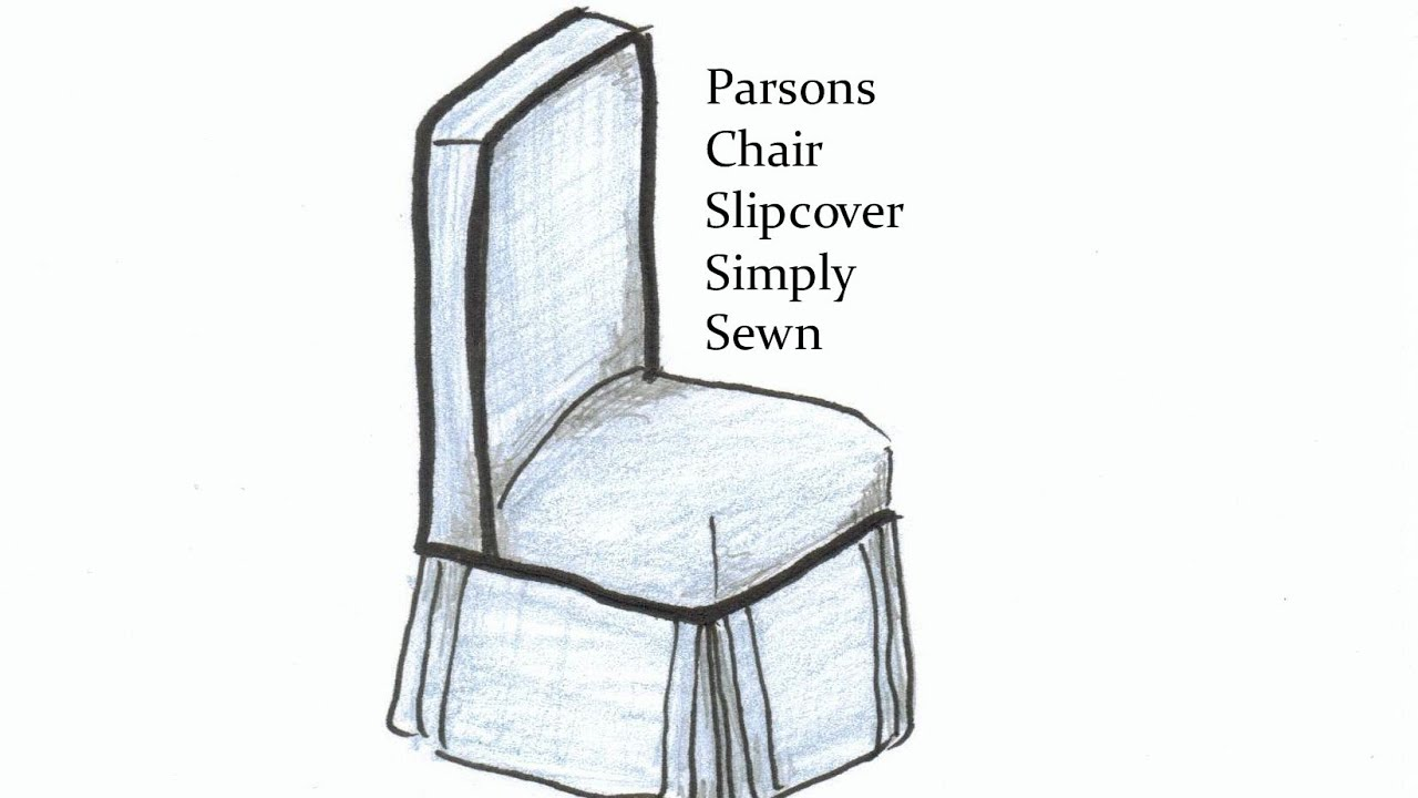 Parsons Chair Cover Pattern Ergonomic Cervical Support Slipcover Simply Sewn Youtube