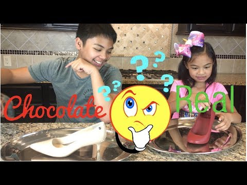 Lil Sis Vs Big Bro Chocolate Vs Real Challenge Shoes
