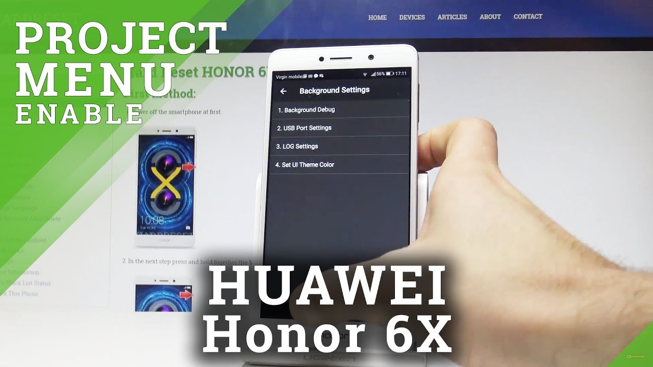 How to Enter Project Menu in HONOR 6X |HardReset info