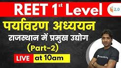 REET 1st Level | Environmental Studies by Mukesh Sir | Major Industries in Rajasthan (Part-2)