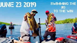 SWIMMING THE JIG TO THE WIN! Clubby Event Number 2