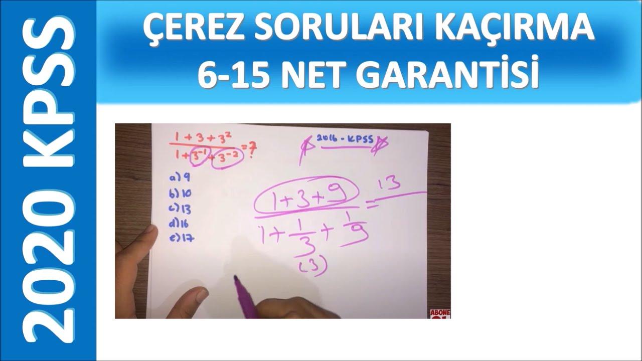 MATEMATİĞİM 0 DİYENLER 6-15 NET GARANTİSİ