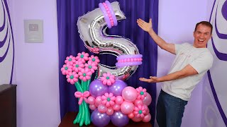 BOUQUET DE GLOBOS - como hacer un bouquet de globos - decoraciones para cumpleaños - gustavo gg