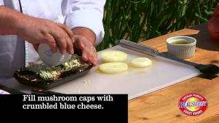 Blue Cheese Stuffed Mushrooms With Grilled Vidalia® Onions