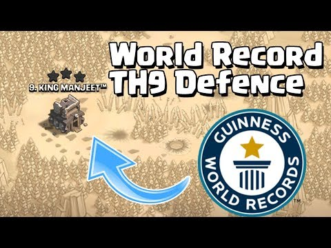 TH9 (Town Hall 9) World Record Defence | TH9 Mega Troll War Base - Clash Of Clans - COC