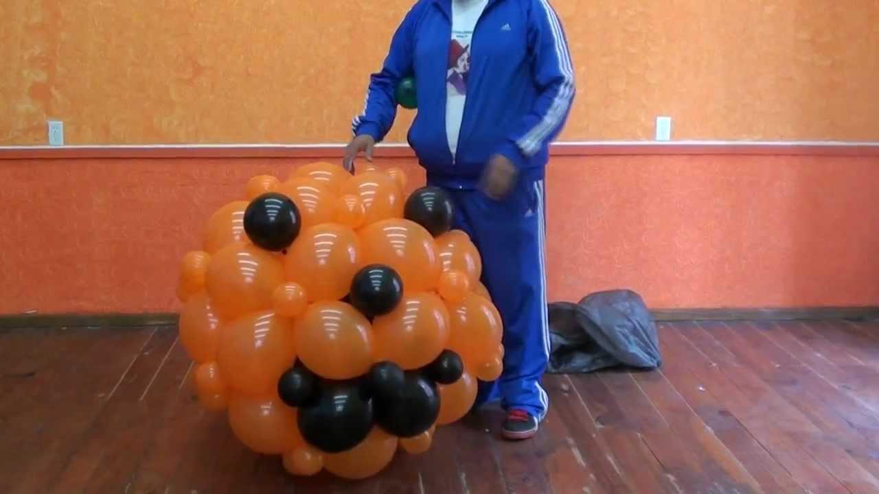 Calabaza con globos halloween lecolin youtube - Manualidades con globos ...