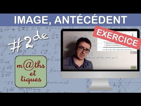 EXERCICE : Déterminer une image et un antécédent par une fonction - Seconde