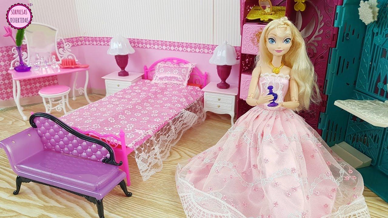 Dormitorio para la Muñeca Elsa de Frozen Juguetes de Barbie
