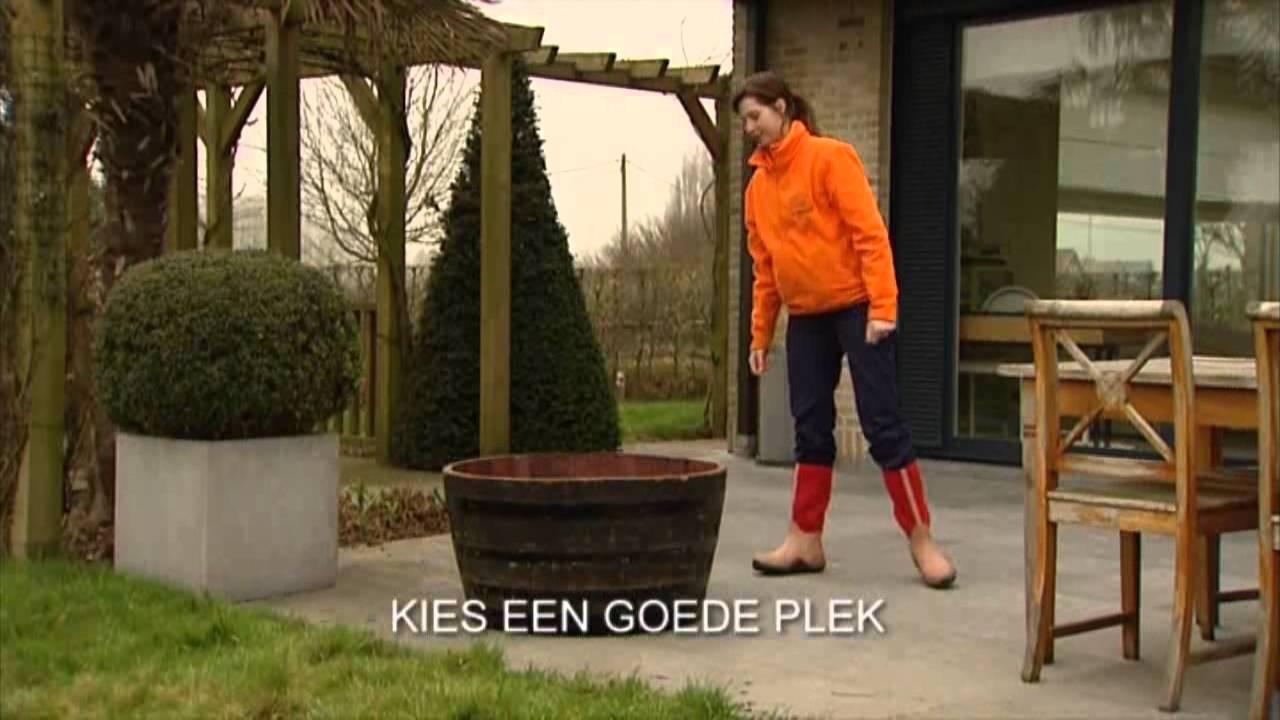Floralux tuintip een terrasvijver maken youtube for Terrasvijver maken