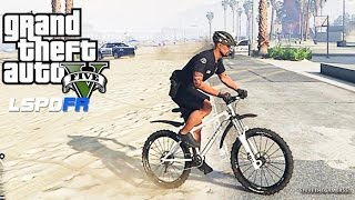 GTA 5 LSPDFR 0.3 - EPiSODE 9 - LET'S BE COPS - BICYCLE PATROL (GTA 5 PC POLICE MODS) VESPUCCI BEACH