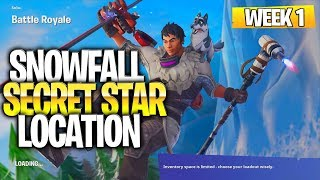 "Fortnite Battle Royale Season 7 Week 1 Secret Battlestar Location (""Snowfall"" Challenges)"