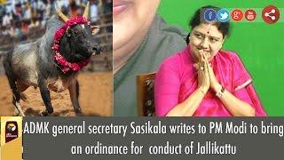BREAKING: VK Sasikala's Letter to PM Modi to bring Jallikattu Ordinance