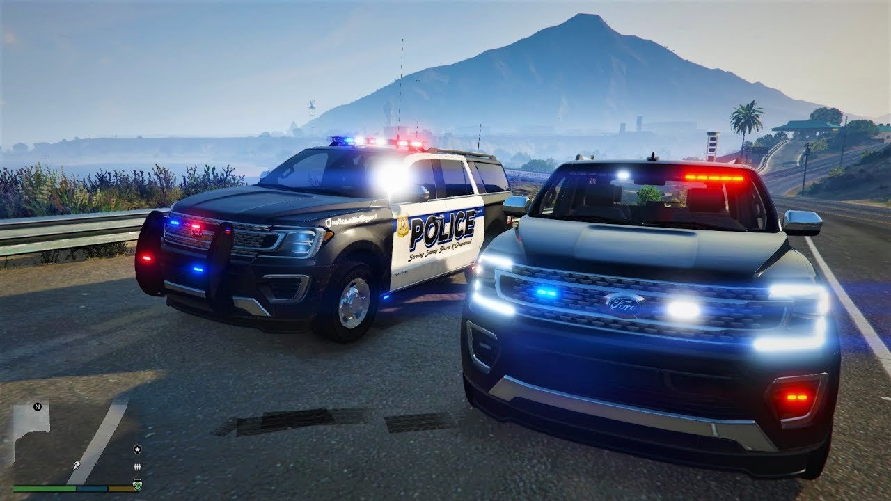 Grand Theft Auto V  Ford Expedition Police Fbi Unmarked Gameplay