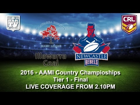 2016 - AAMI Country Rugby League Championship - Tier 1 Final - Illawarra v Newcastle