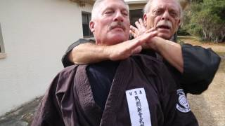 Shihan Kumo demonstrates his way of quickly shooting into someone o...