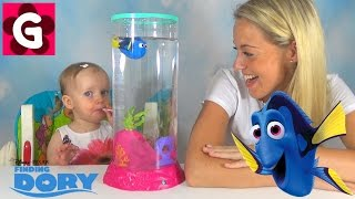 Finding Dory Robo fish Swim in Real Water - Kids toy review